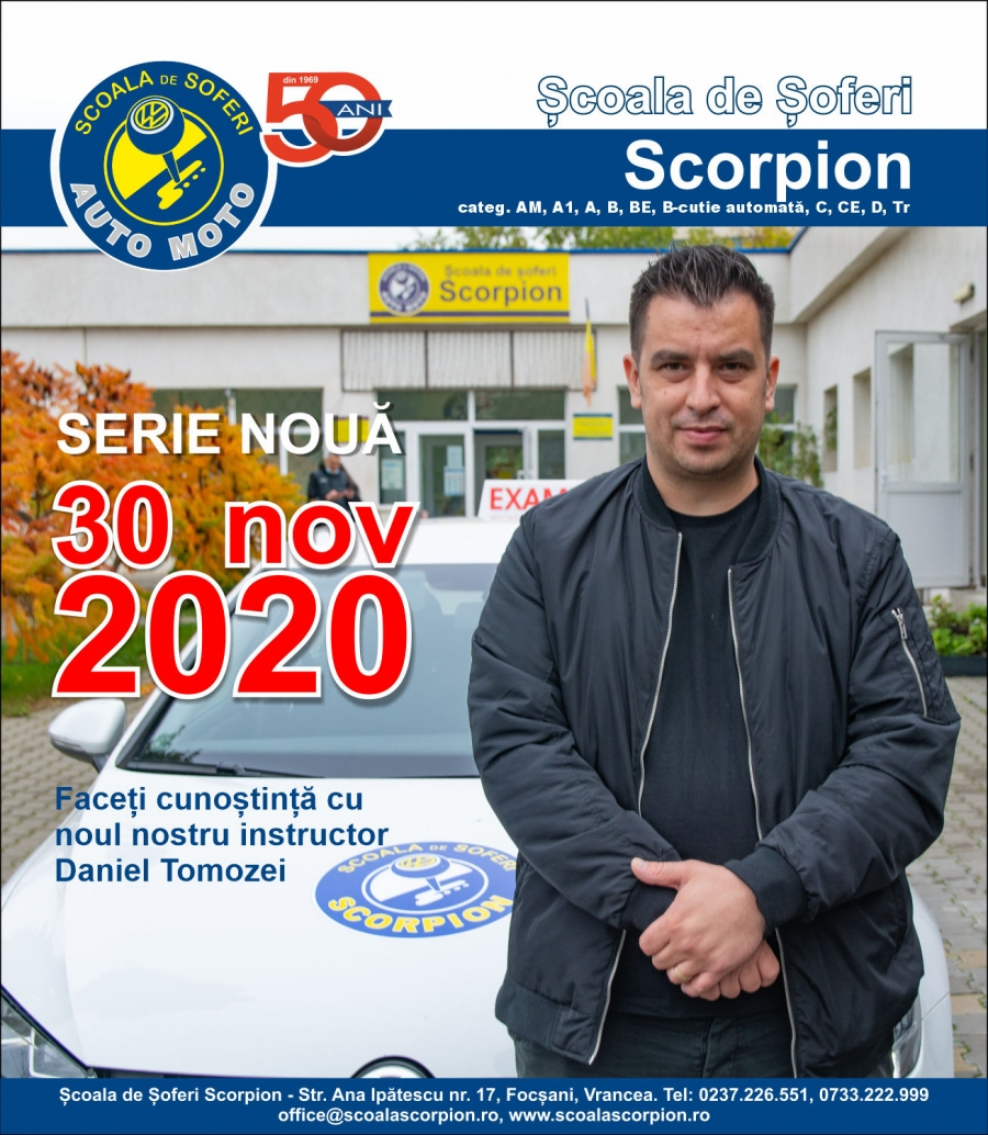 Serie noua in 30 nov 2020