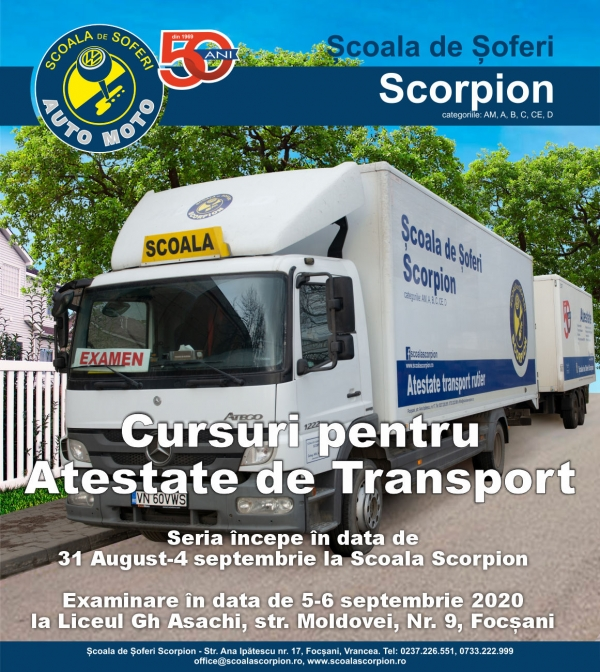 Curs Atestate de transport - 31aug-4sept 2020